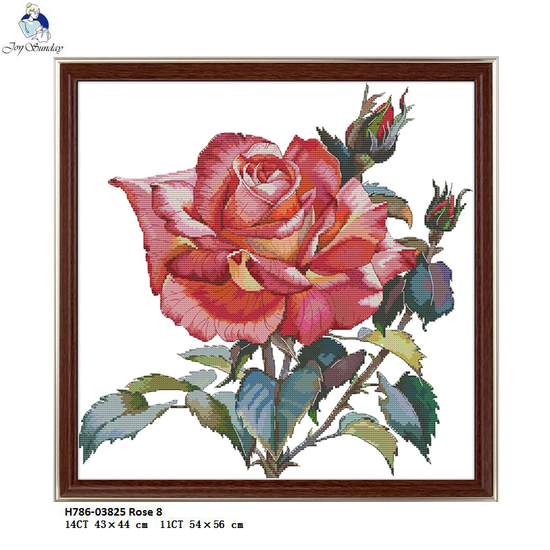 5D Diamond Painting Red Rose Of Flower Patterns Counted Cross Stitch Set Kit 8C