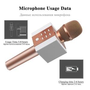 Image 4 - المهنية بلوتوث اللاسلكية ميكروفون ميكروفون الكاريوكي المتكلم الموسيقى المحمولة لاعب MIC الغناء مسجل KTV ميكروفون