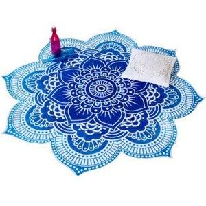 Image 2 - CAMMITEVER 4 Colors Lotus Bohemian Mandala Tapestry Sandy Beach Picnic Throw Rug Camping Tent Travel Sleep Pad Home Furnishing