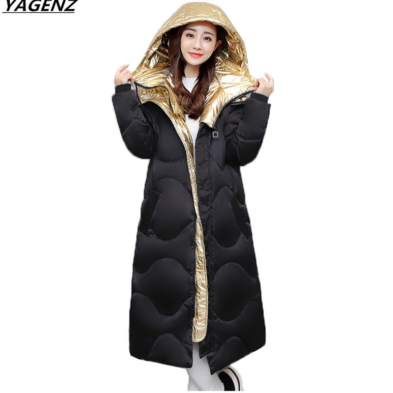 Winter Jacket Women Hooded Cotton Padded Long Coats Warm Winter Coat Women Parkas 2017 New Winter Collection Hot YAGENZ K683 new mens warm long coats lady cotton warm jacket padded coat hooded parkas coat winter top quality overcoat green black size 3xl