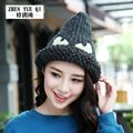 Cute Monster Casual Beanies Women Winter Hats Crochet Knitting Cap Warm Gorros Outdoor Brand Warm Ear gorros mujer invierno
