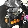 Preto Car Auto Assento Voltar Multi-Bolso Saco de Cabide de Armazenamento Organizador Titular Isolamento Térmico Sacos de Comida Car Estiva Tidying ME3L