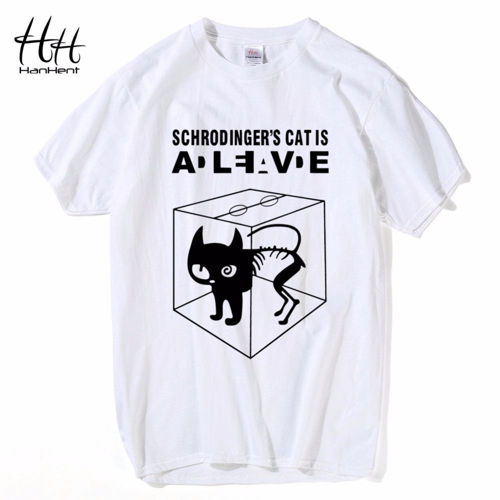 HanHent The Big Bang Theory Shirt Schrodinger's Cat T-shirts Mænd - Herretøj - Foto 3