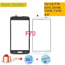 Touchscreen For LG F70 D315 D315K F370K F370L Touch Screen Touch Panel Sensor Digitizer Front Glass Outer Lens Replacement white outer front touch screen digitizer glass panel replacement for lg optimus f70 d315 with tools