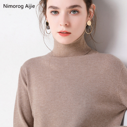 2019 Autumn Winter sweater women turtleneck cashmere sweater  knitted pullover women sweter fashion sweaters new Plus Size tops 1