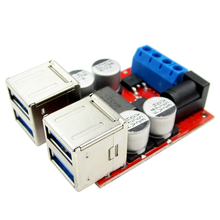 10pcs 8V-35V Turn 5V 8A Four USB Output Power Step-down Module For Android Apple