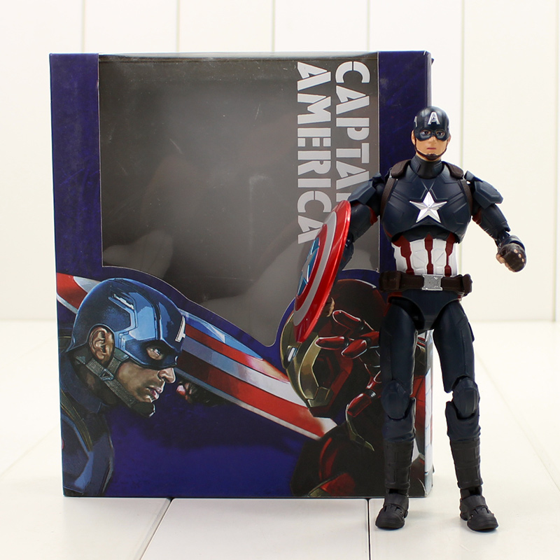 15cm Captain America High Quality SHF Figuarts SHFiguarts Action Figure Model Toy Hot PVC Collection for friends gift shf figuarts superman in justice ver pvc action figure collectible model toy