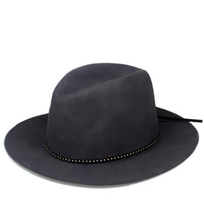 Шерсть для женщин и мужчин Осенняя зимняя фетровая шляпа фетровая Панамка Дерби мягкая фетровая шляпа Головной убор широкополый - Цвет: Gray