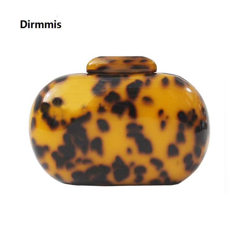 2018 New Brand Fashion Wallet Women Acrylic Cute Round Leopard Print Evening Bag Woman Luxury Party Prom Handbag Causal Clutch 2018 new handbag brand fashion wallet women messenger bags golden eye patchwork lady luxury party prom evening bag woman clutch