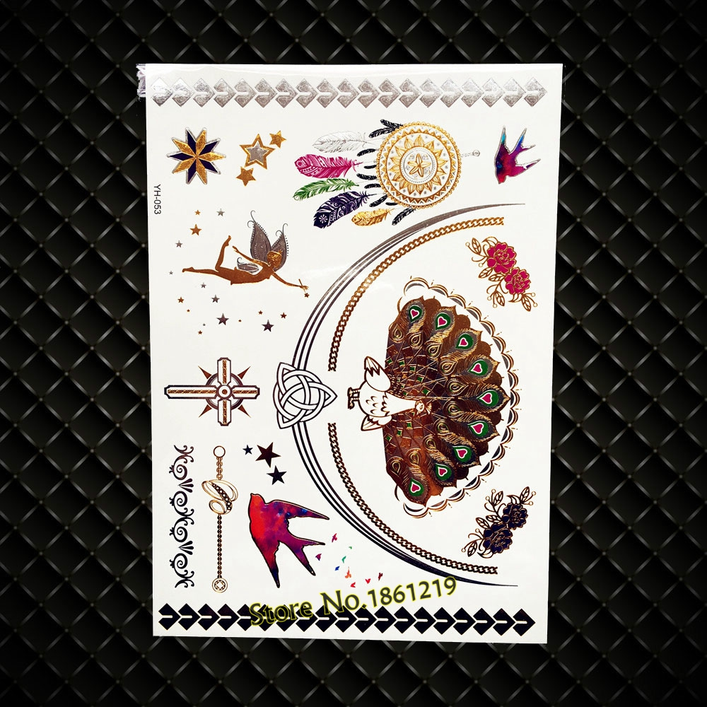 4d26034b9009b Gold-Henna-Dreamcatcher-Temporary-Tattoo-Peacock-Feather-Flying-Birds- Designs-Fairy-Waterproof-Metallic-Flash-Tattoo-Sticker.jpg