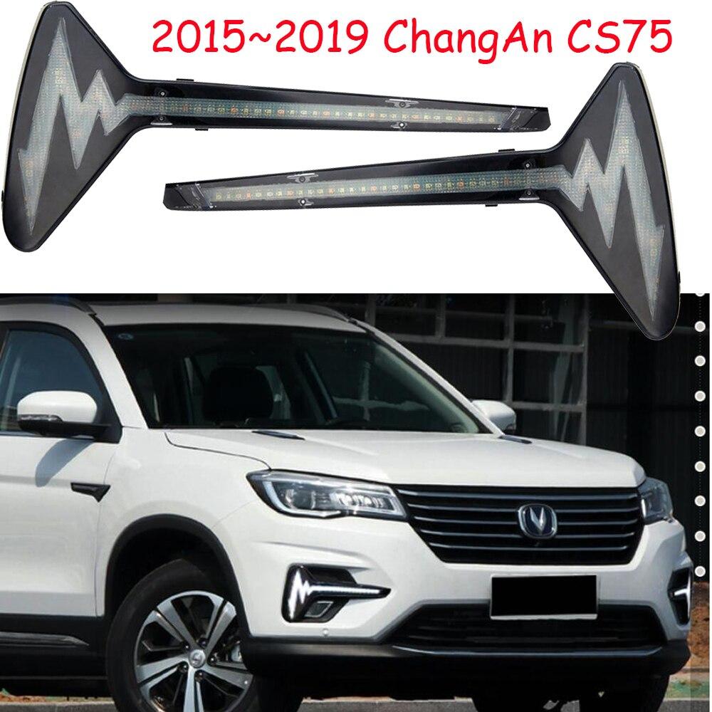 Video ChangAn CS75 daytime light 2017 2019year ChangAn cs75 bumper light car accessories CS75 fog light