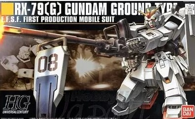 1pcs Bandai HG RX-79G GUNDAM 1/144 HGUC 079 08MS GROUND Scale Model wholesale Model Building Kits kids free shipping lbx toys стоимость