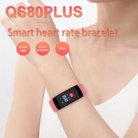 Timethinker QS80 Plus Smart Bracelet Wristband Fitness Tracker Heart Rate Blood Pressure Control Bracelet Smartband for Xiaomi 9
