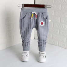 DIIMUU Newborn Kids Baby Boys Girls Trousers Children Clothing Fashion Striped Cotton Casual Bottoms Sports Long Pants