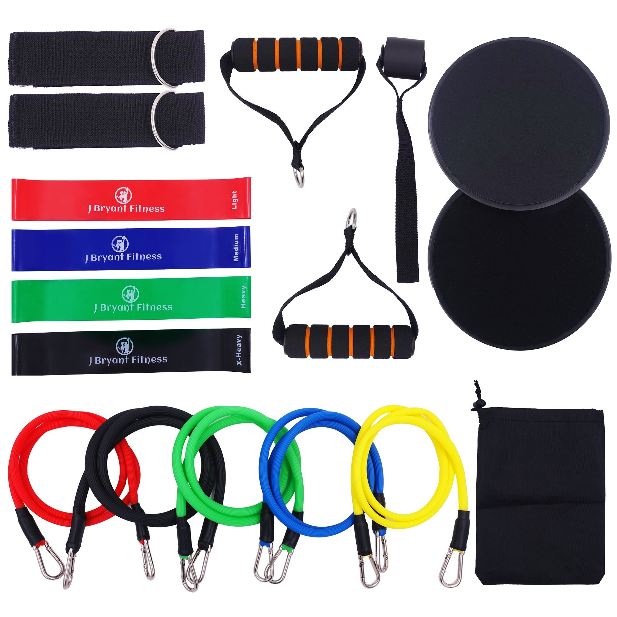 Tube Resistance Bands Set Heavy Latex Elastic Band Core Sliders For Home Gyms Workout Physical Therapy Strengthening Muscel