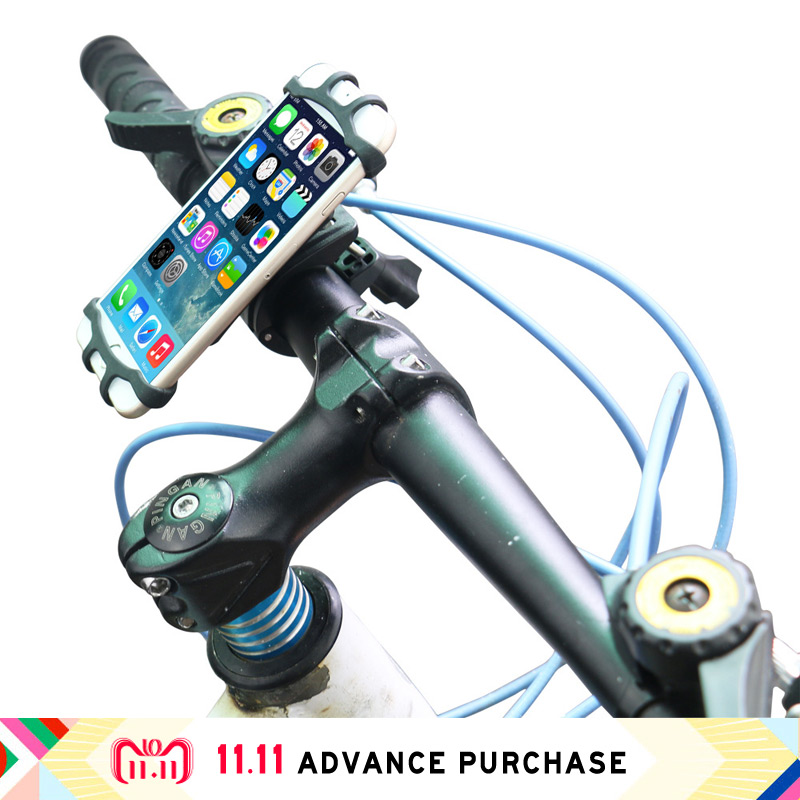 holder for phone in bicycle motorbike stand mount for phone lazy bracket steering wheel fastening for iphone 5 6 7 8 X samsung