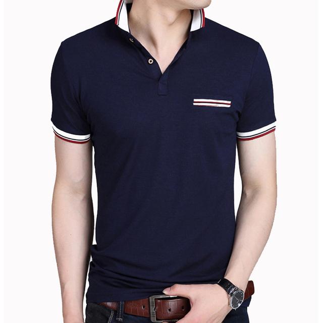 Venta caliente polo camisa de los hombres casual hombres de diseño de manga corta camisas de algodón de verano transpirable jerseys sólidos polos camisas camisa homme