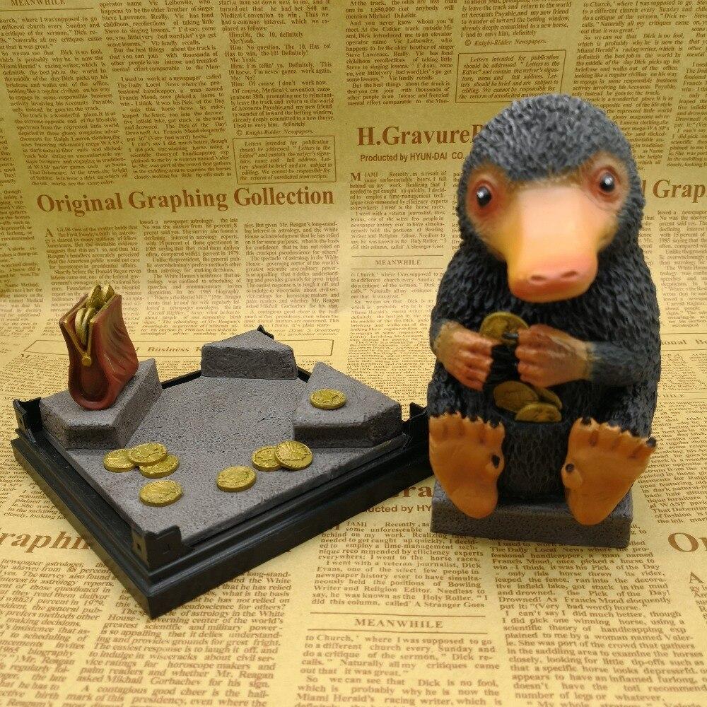 Harry Potter fantastiques bêtes et où les trouver Newt Magic Niffler figurine de poupée de 6 pouces Statue sac Opp modèle