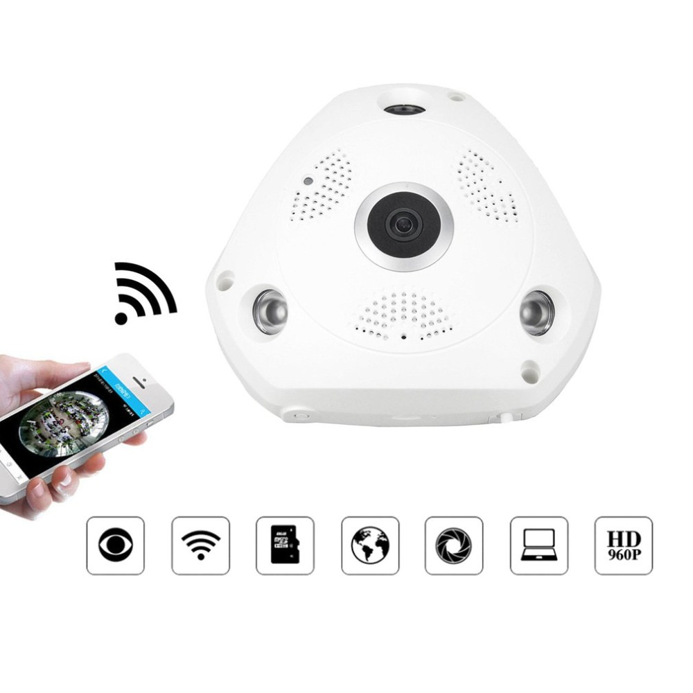 360 Degree Panoramic WiFi IP Camera 1.3MP Video Surveillance Wifi Camera Home Security Wireless Monitor Support APP Remote View цена
