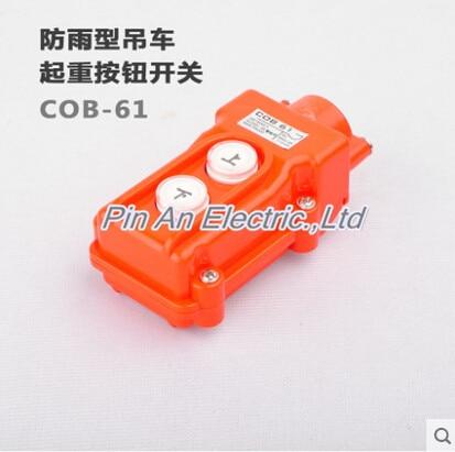 цена на COB-61 Silver Contact Up Down Pushbutton Crane Hoist Switches Push Button Waterproof COB61