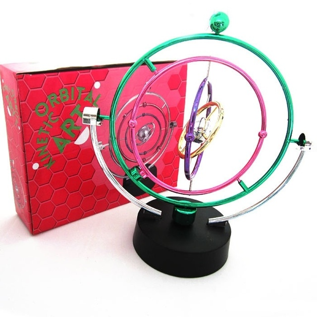 Magnetic Energy Rotation Perpetual Motion Spherical Pendulum Home Office Desk Decor Kids Toy Xmas Gift