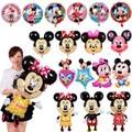1Pcs Mickey Mouse cartoon balloon Birthday party supplies aluminum foil balloons mickey Minnie balloon series for kids toy gift