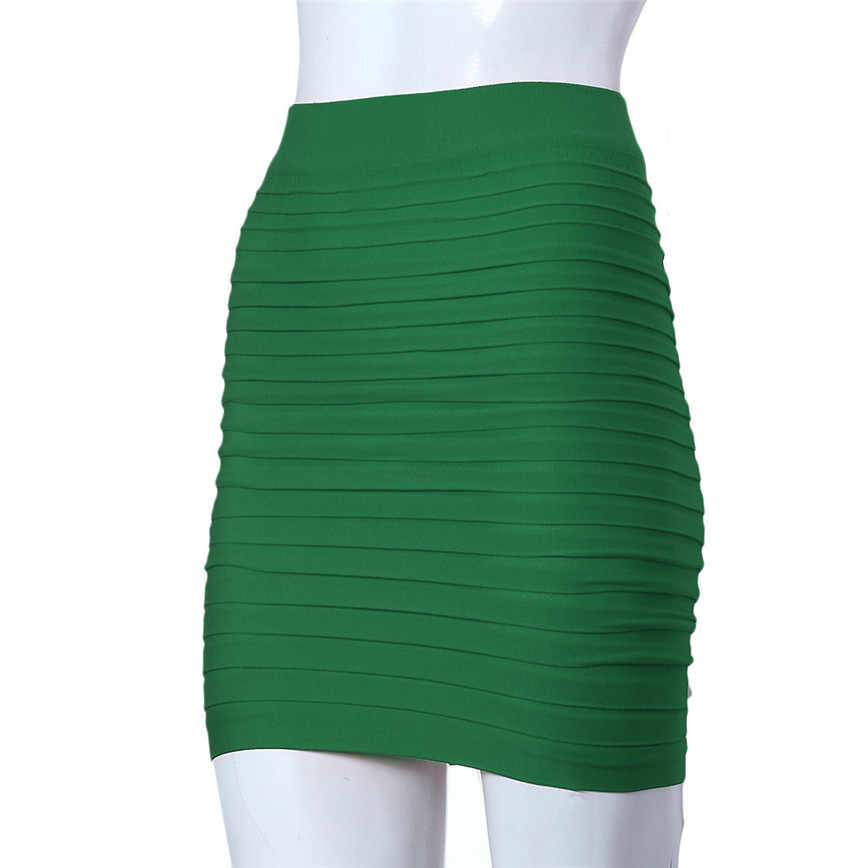 bed2af38831 ... Free Ostrich Pencil Skirts Summer Fashion Lady Short High Waist Pure  Color Pleated Wrap Hips Elastic ...