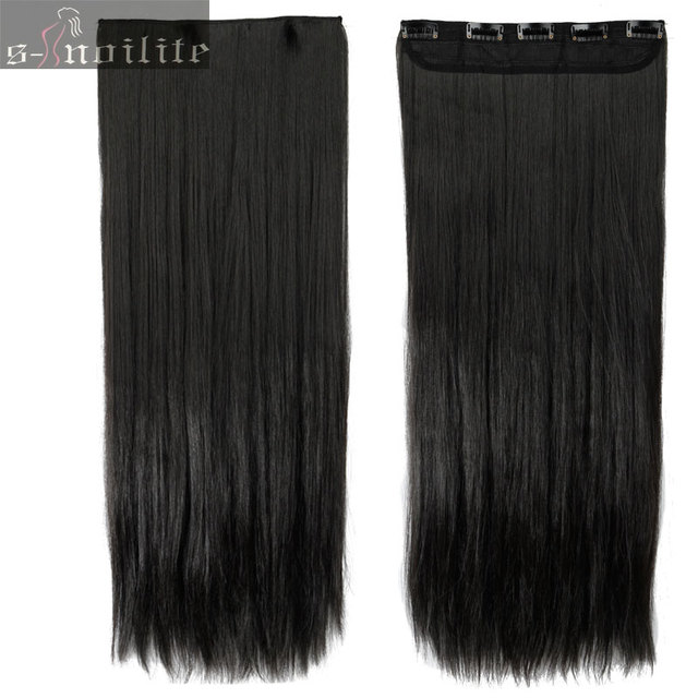 Natural black 23 inches real thick 145g hairpiece 34 full head natural black 23 inches real thick 145g hairpiece 34 full head clip in hair pmusecretfo Image collections