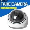 Mini Câmera Dome Falso AA Bateria Para O Flash LED Piscando Manequim Câmera de Segurança Dome Câmera de Vigilância CCTV Camaras
