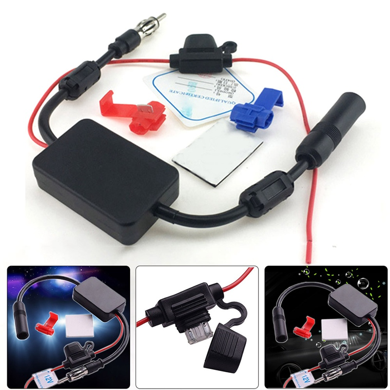 Car Radio FM Antenna Radio Aerials 12V Signal Amplifier Booster Radio FM for Car Boat RV Signal Enhancer Device краска черная dc14 600 мл dup90115