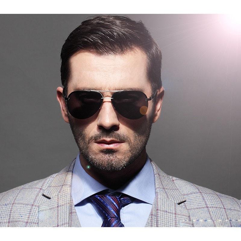 LVVKEE marka mężczyzna HD spolaryzowane lustrzane okulary - Akcesoria odzieżowe - Zdjęcie 6