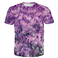 New Arrive Weed Leaf Prints tshirts Men Women Swag Hip Hop Tees Tops Summer Space Galaxy Weeds 3D t shirt Casual t shirts