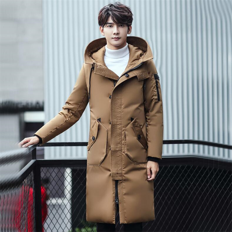 Men Fashion Parkas Winter Thicken Warm Men's Hooded Jacket and Coats Loose Casual Plus Size 3XL Long Parkas Outwears For Male