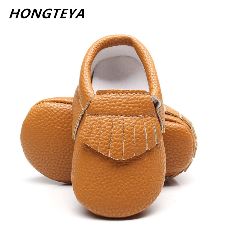 Baby shoes Baby Moccasins 0-24 Months boys girls Toddler Kids Fringe Tassel bow PU Leather Shoes Crib Shoes infant First Walkers