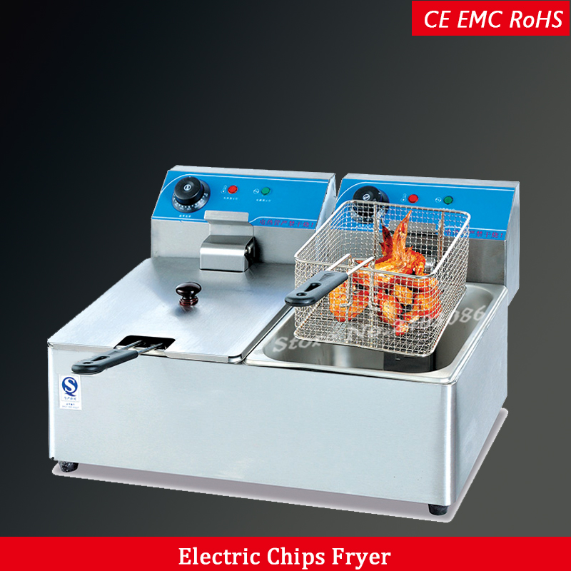 commercial electric deep fryers 12Lcommercial electric deep fryers 12L