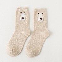 5Pairs Lot Women Cute Cartoon Sock Cotton Animal Sock Breathable Soft Sock 3D Design Winter Sock