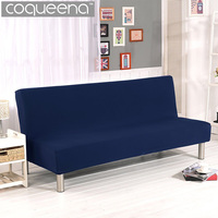 Stretch Fabric Sofa Cover Couch Slipcovers for Sofa without Armrests Furniture Covers Universal Solid Color