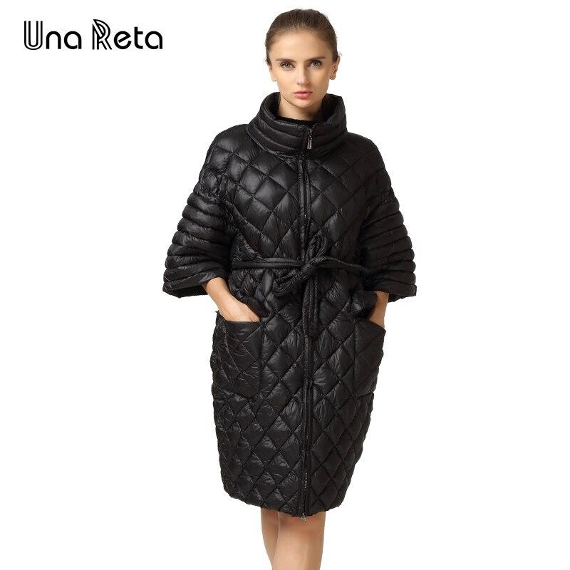 New Arrivals Women Autumn Winter Parkas Slyn Waist Long Coat Fashion Plus Size Leisure Coat Bat Sleeve Pearl Cotton Ladies Coats