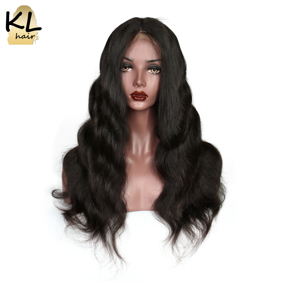 Lace Front Human Hair Wigs With Baby Hair 180 Density Natural Black Brazilian Remy Hair Lace