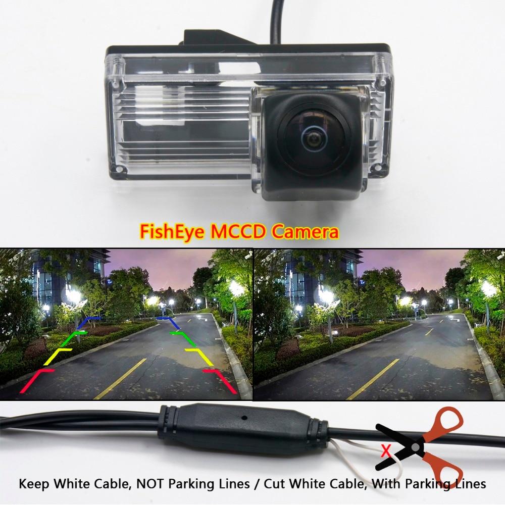 Fisheye 1080 P Mccd Hd Backup Umkehr Rückansicht Kamera Für Toyota Reiz Avalon Xx10 Land Cruiser Prado 200 Lc200 Auto Monitor Geschickte Herstellung