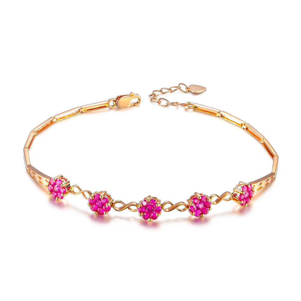 Buy ruby bracelet rose gold and get free shipping on AliExpress.com