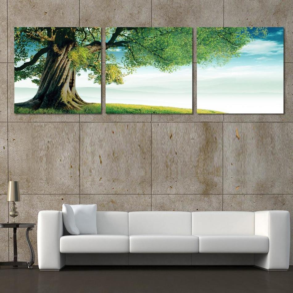 Online Kaufen Großhandel grüne wand kunst leinwand aus China ...