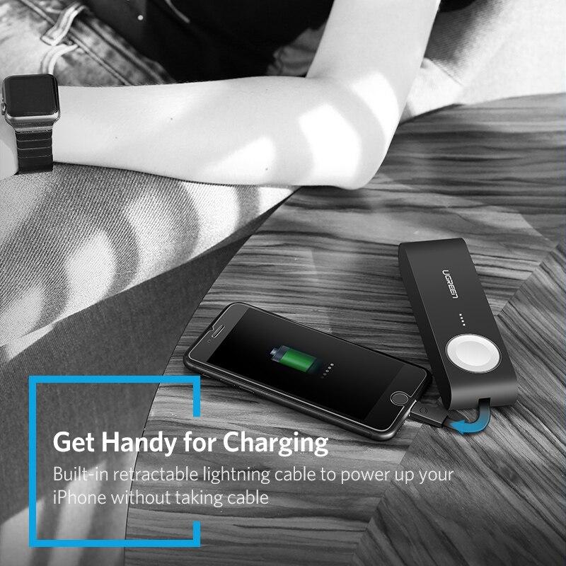 Ugreen Chargeur Sans Fil Puissance Banque 4400 mah pour Apple Montre 4/3/2 iPhone X 8 Externe Batterie chargeur pour Mobile Téléphones Poverbank - 4