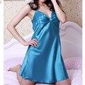 8 Color sexy simulated silk nightgown casual pajamas sleepwear robe vestidos night dress