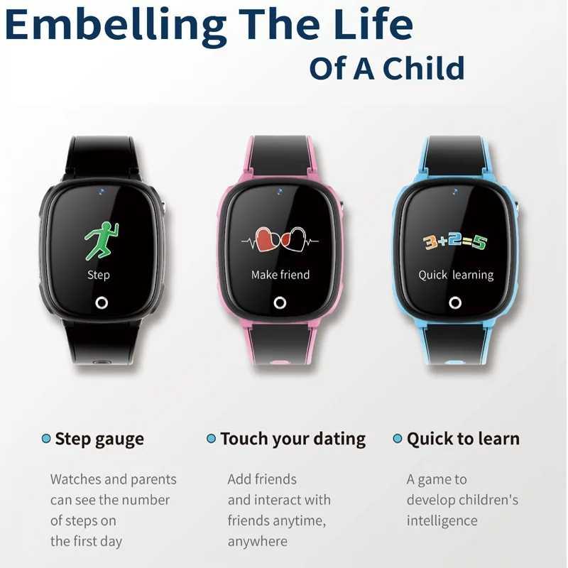 HW11 Children's Smart Watch Phone GPS Tracker Positioning IP67 Waterproof Bluetooth GPS SOS Call  Pedometer Watch for Kids
