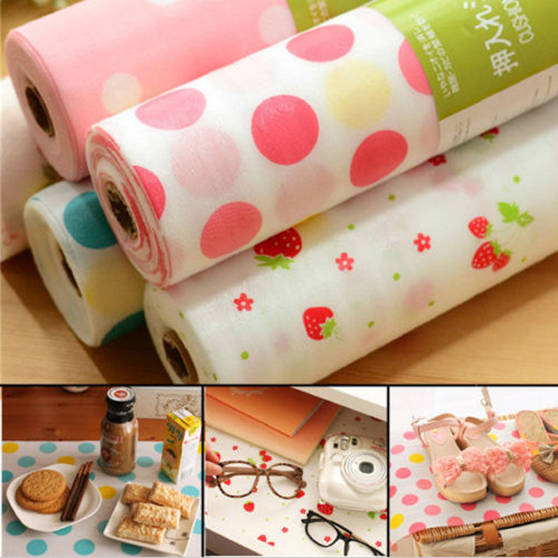 300X30CM Polka Dots Shelf Contact Paper Cabinet Drawer Liner Kitchen Table Mat wallet