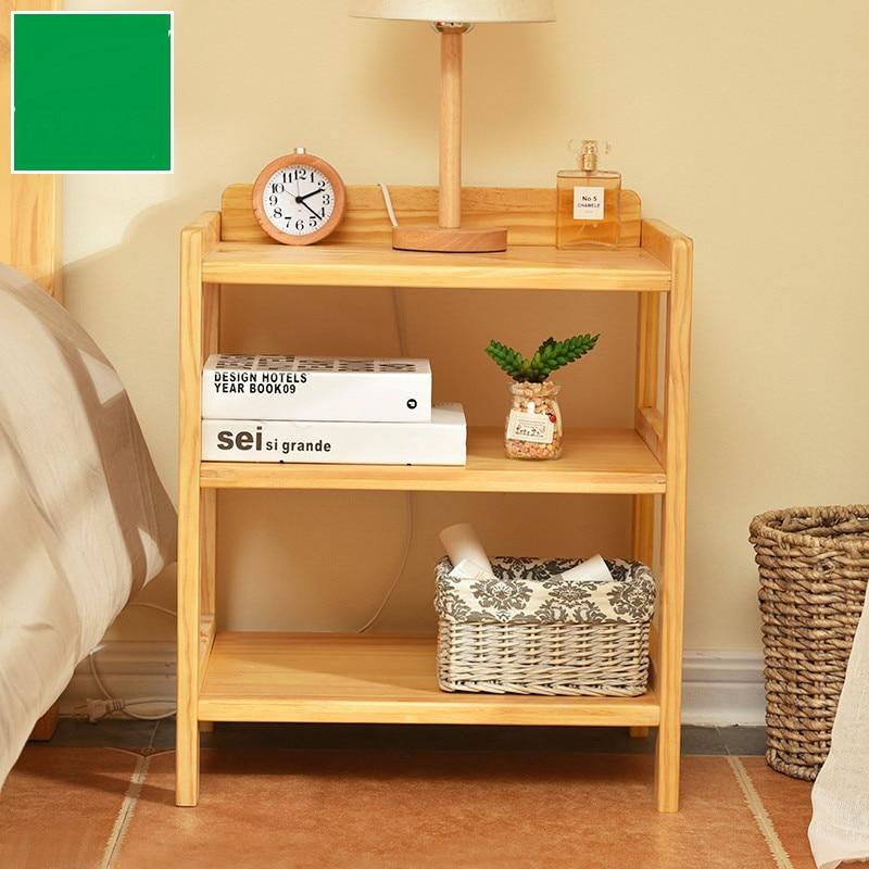 Almohada de la cama de madera maciza de pino moderno for Gabinete de almacenamiento dormitorio