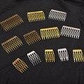 Металлическая расческа для волос с 5/10 зубцами, заколки для волос бронзового тона, аксессуары и компоненты для бижутерии ручной работы, Свад...
