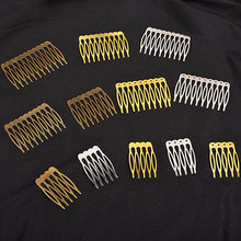 5/10 dentes de metal pente de cabelo bronze tom grampos de cabelo garra diy jóias descobertas & componentes casamento suprimentos cabelo hk107