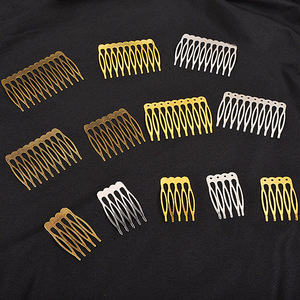 5/10 Teeth Metal Hair Comb Bronze Tone Hair Clips Claw Hairpins DIY Jewelry Findings & Components Wedding Hair Supplies HK107(China)